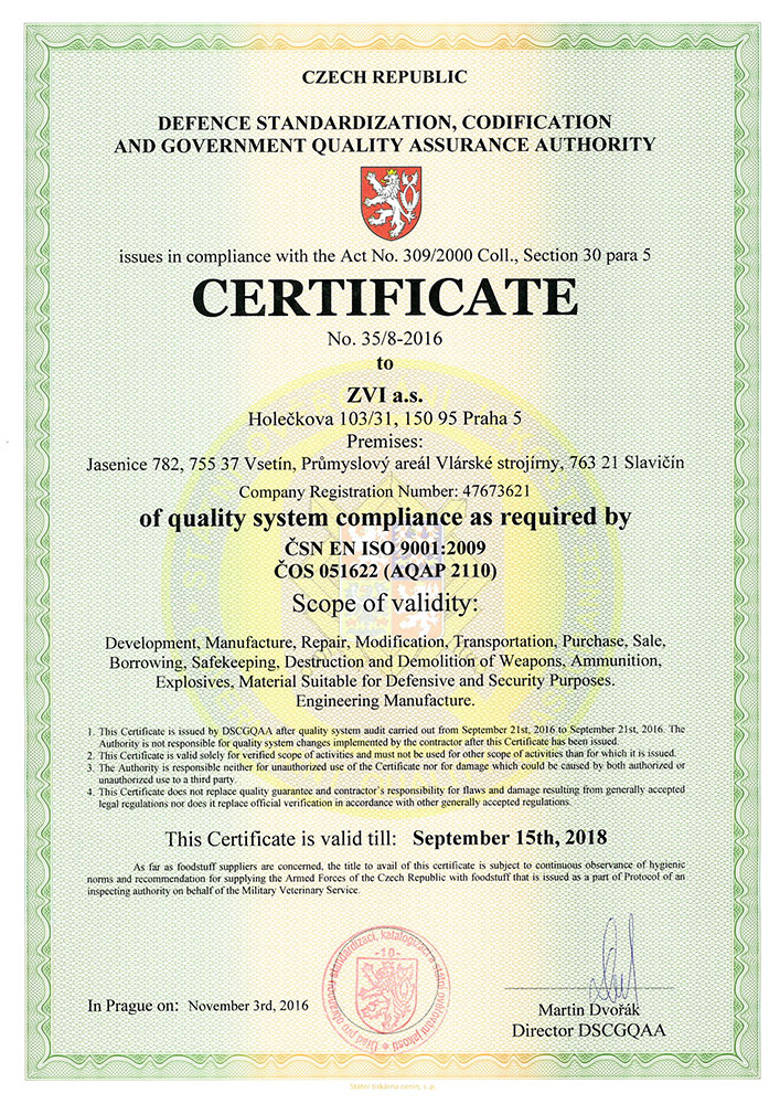 Zvi Company Profile Certificates
